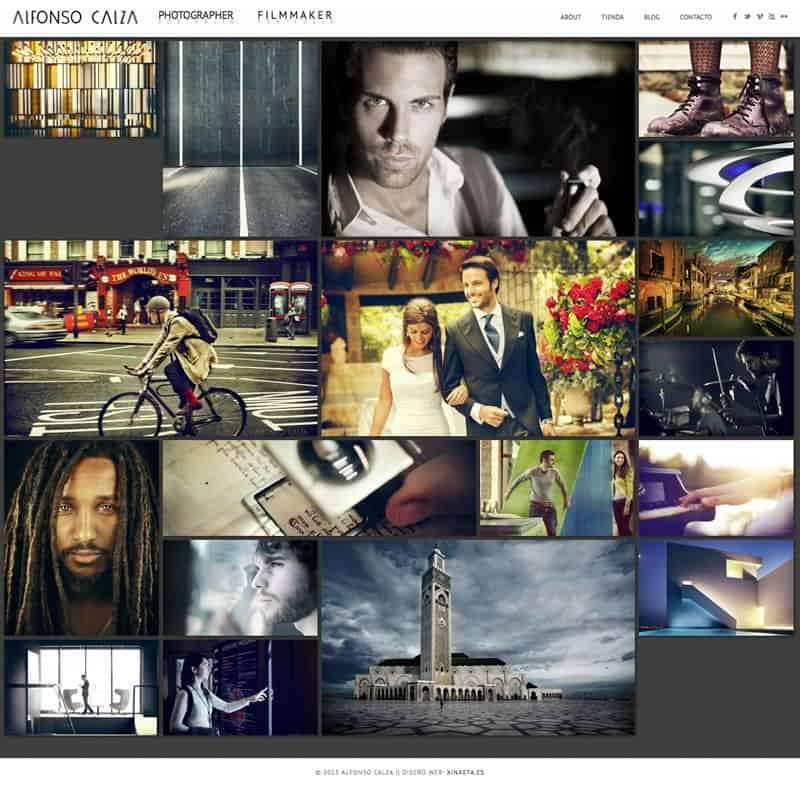 Alfonso Calza Diseño web responsive: HTML5, wordpress, portfolio, blog - Captura de pantalla de inicio