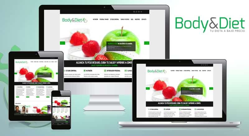 Body&Diet - Diseño web, logotipo y marketing social