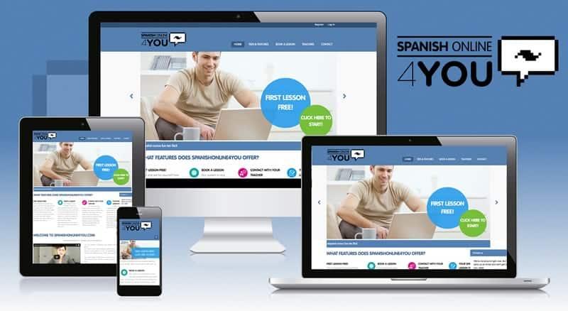 Spanish Online 4 You - Diseño web responsive HTML5. Plataforma Online de proyecto educativo basada en wordpress.