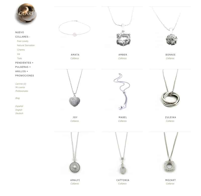 Claré - Diseño Web