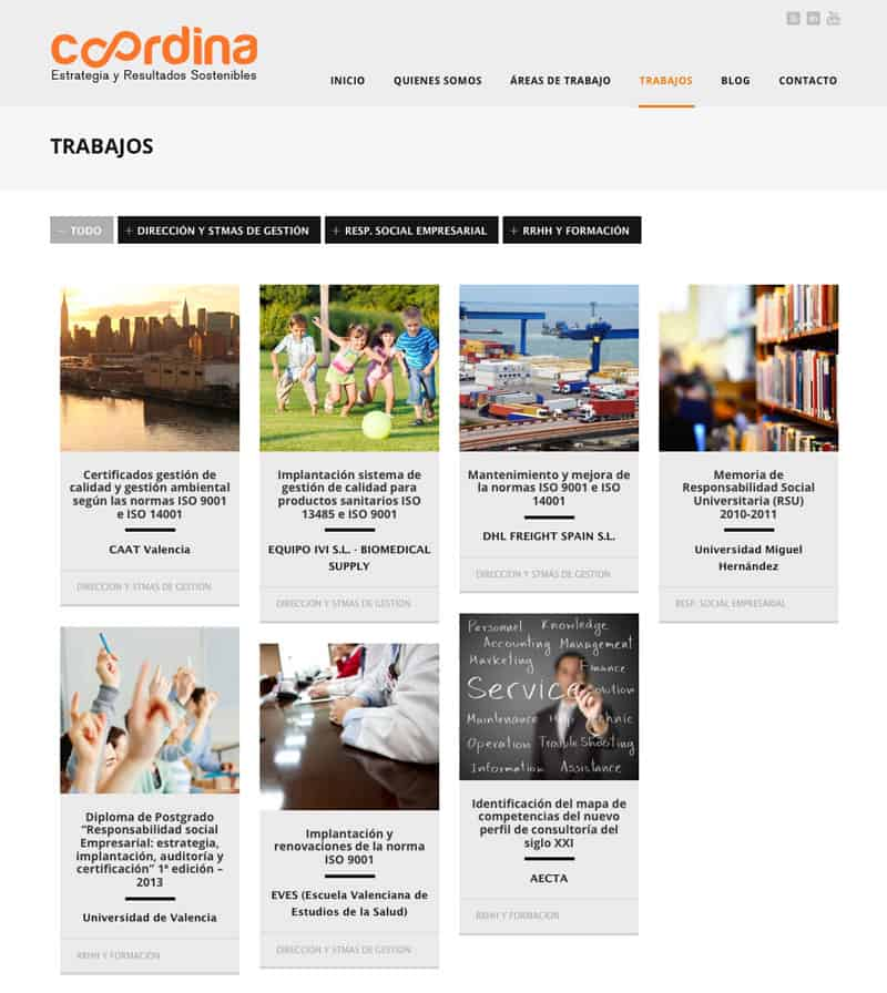 Coordina - Diseño Web