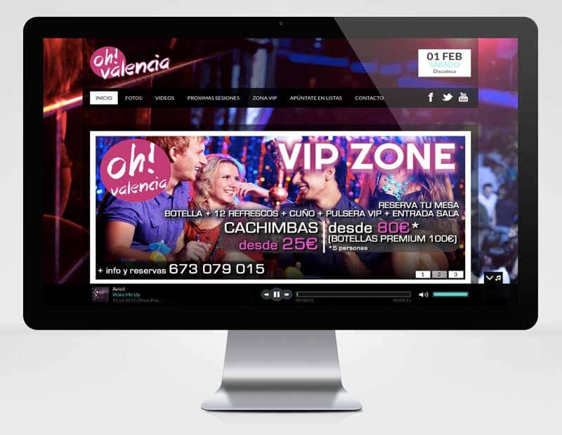 Discoteca Oh! Valencia - Diseño Web