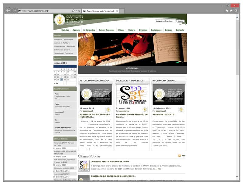 Cosomuval - Diseño Web
