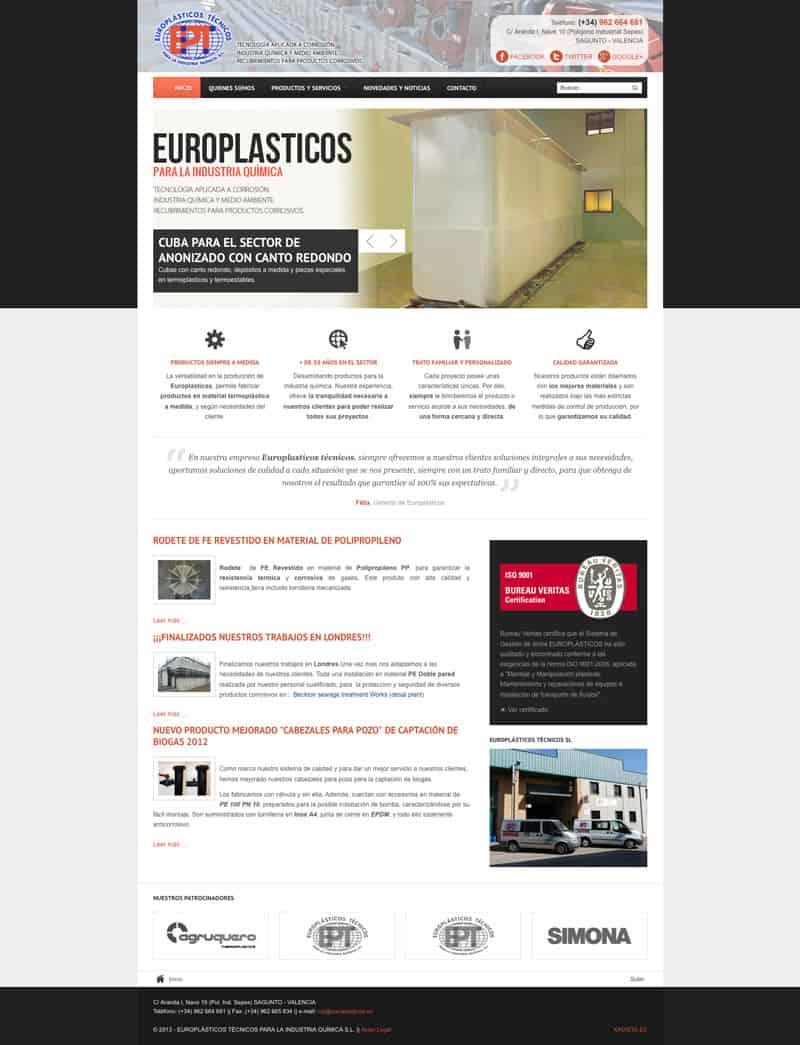 Europlásticos - Diseño Web