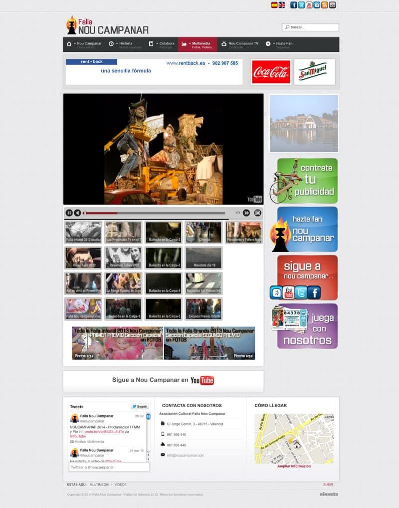 Falla Nou Campanar - Diseño Web