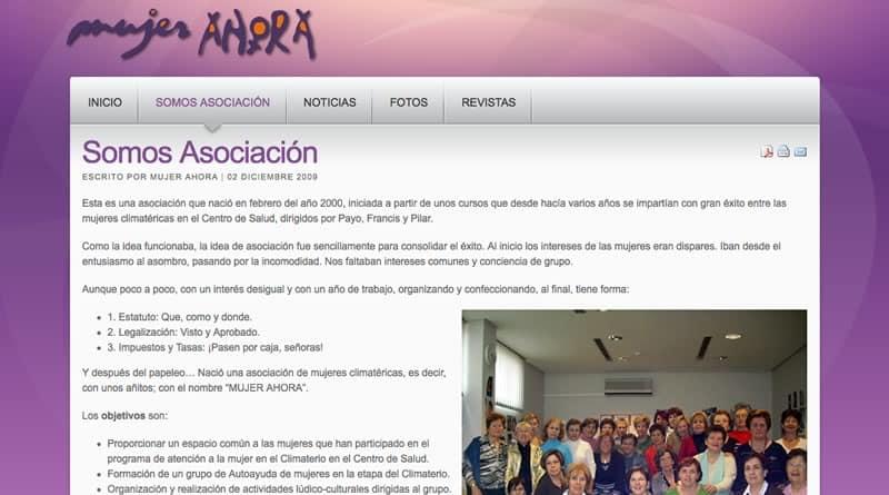 Mujer Ahora - Diseño Web Valencia