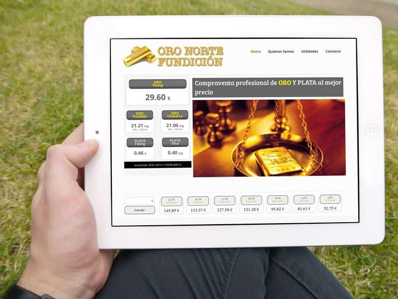 Oro Norte Vitoria - Diseño Web