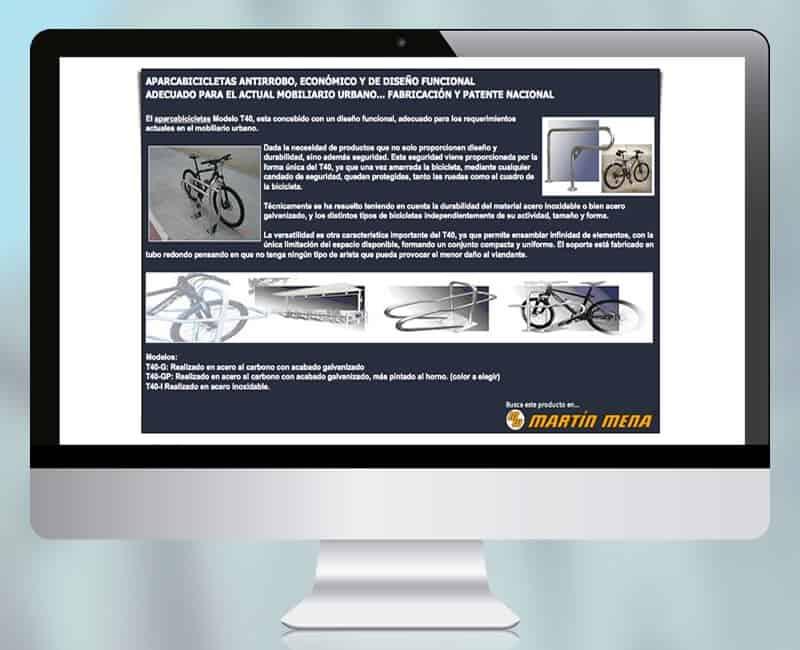 Pagina web presencial 'Aparcabicis' de Martin Mena