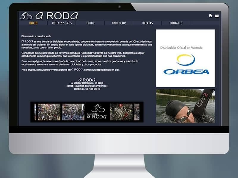 Página web os-commerce 'Bicicletas A Roda'