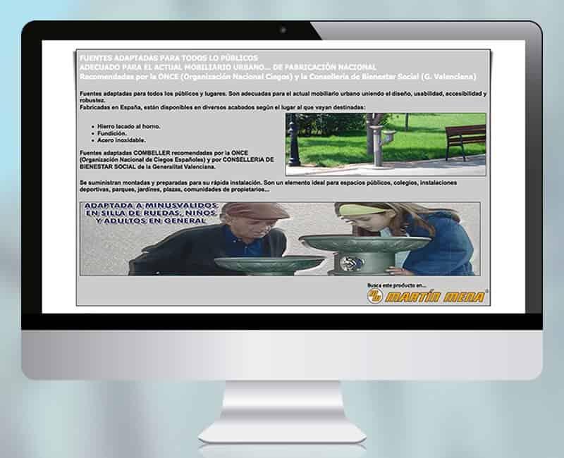 Pagina web presencial 'Combeller Fuentes' de Martin Mena