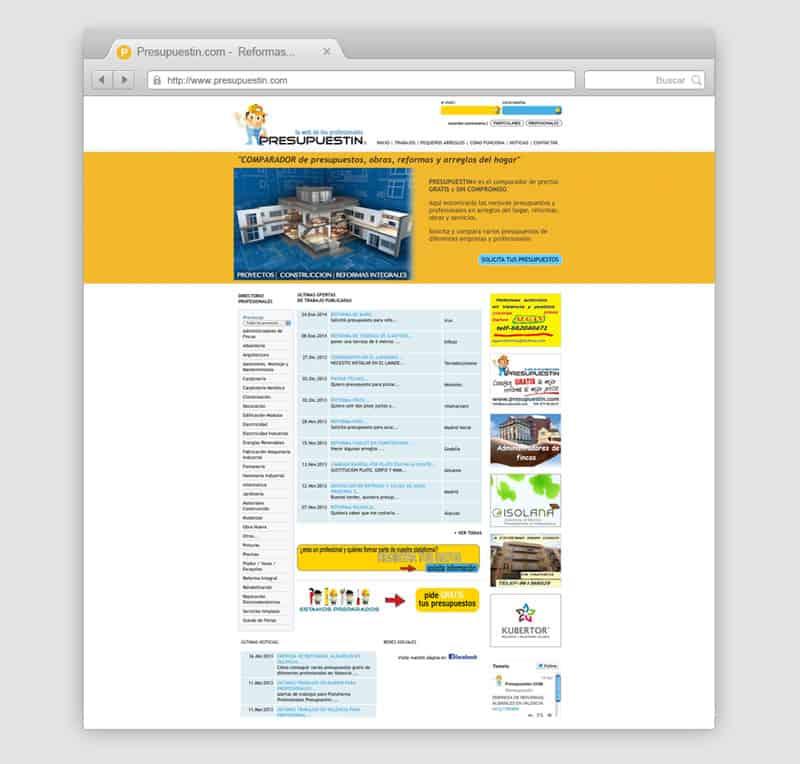 Presupuestin - Diseño Web