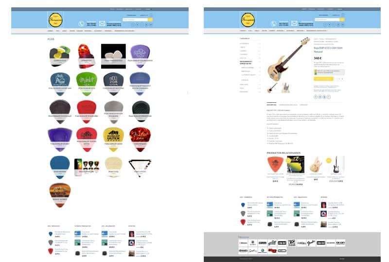 Stringsfield - Diseño Web Responsive, Html5, Tienda Online