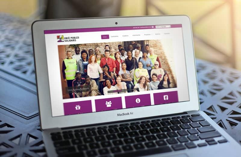 Unió Pobles Solidaris - Diseño Web