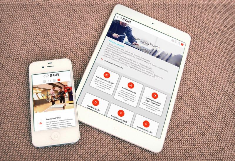 SGR de la Comunidad Valencia (Sociedad de Garantía Recíproca) - DISEÑO WEB HTML5 Responsive y Vídeo Corporativo