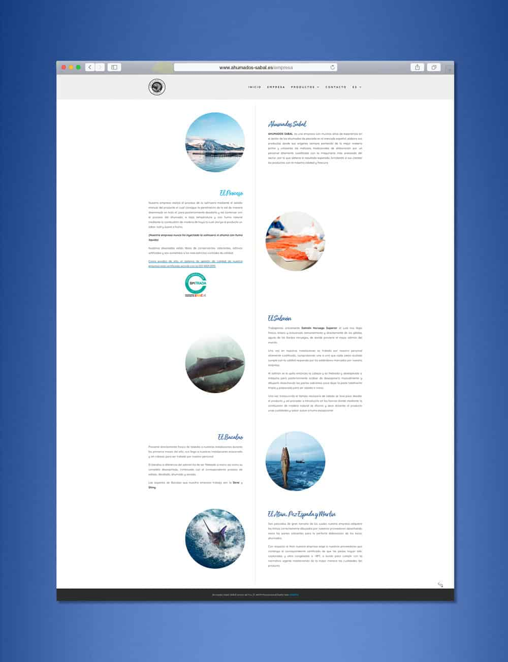 Ahumados Sabal - Web Empresa