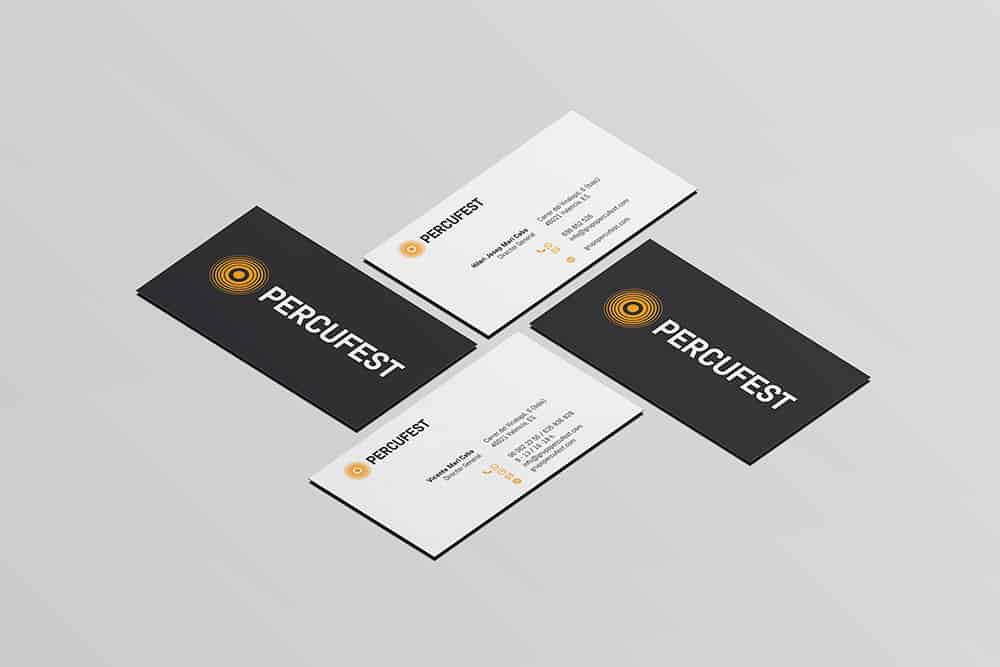 PercuFest - Tarjeta Visita