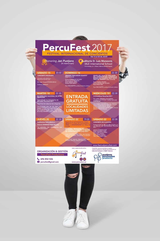 PercuFest - Cartel Programación 2017 #1