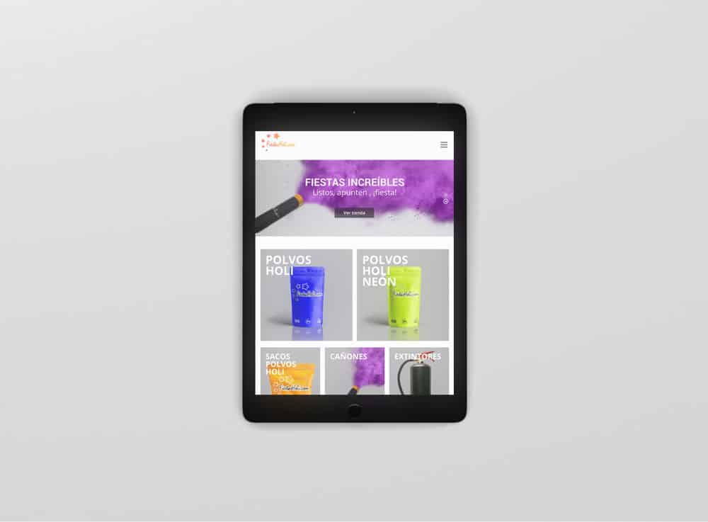 Fiestas Holi - Vista iPad