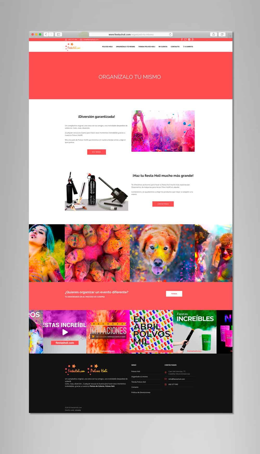 Fiestas Holi - Vista desktop - Organízalo tú mismo