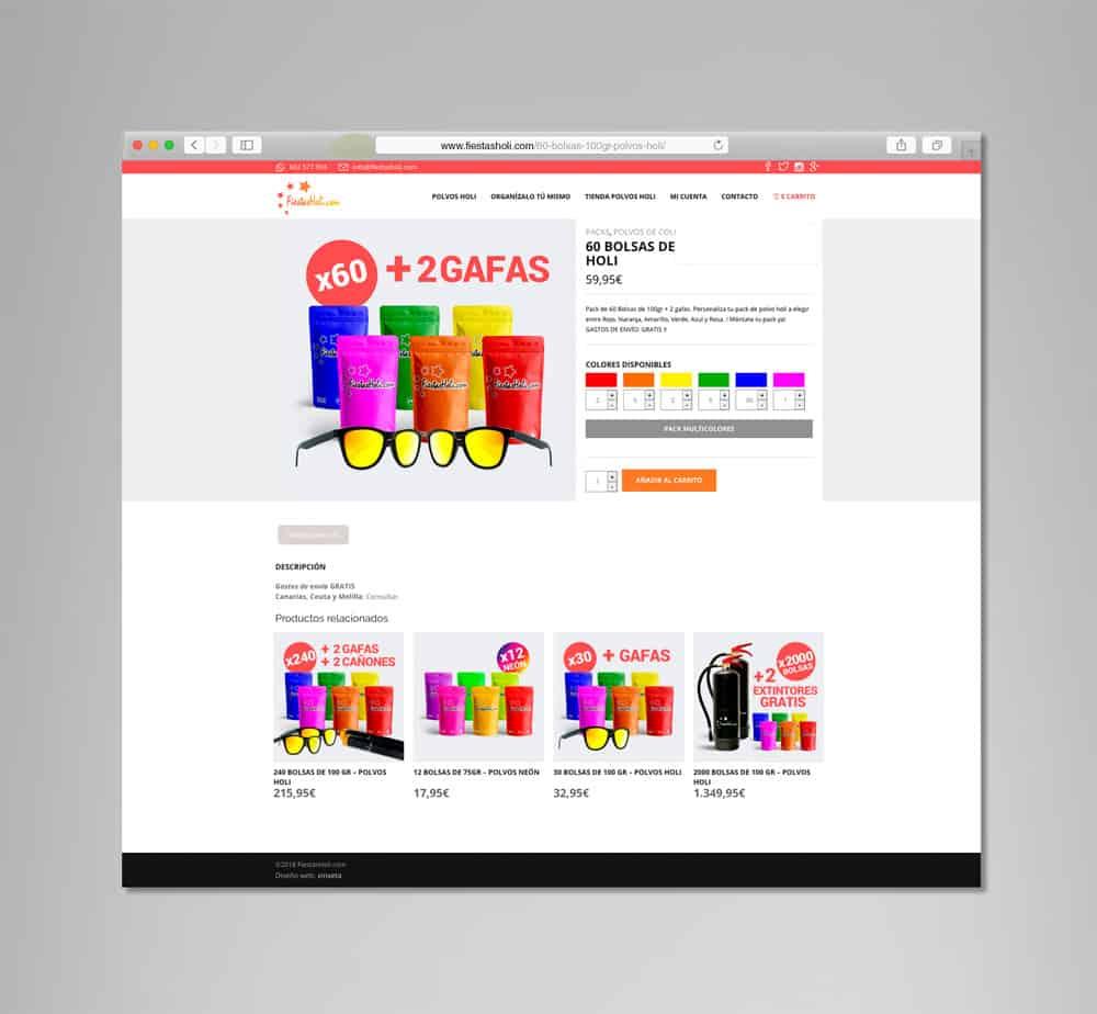 Fiestas Holi - Vista desktop - Producto