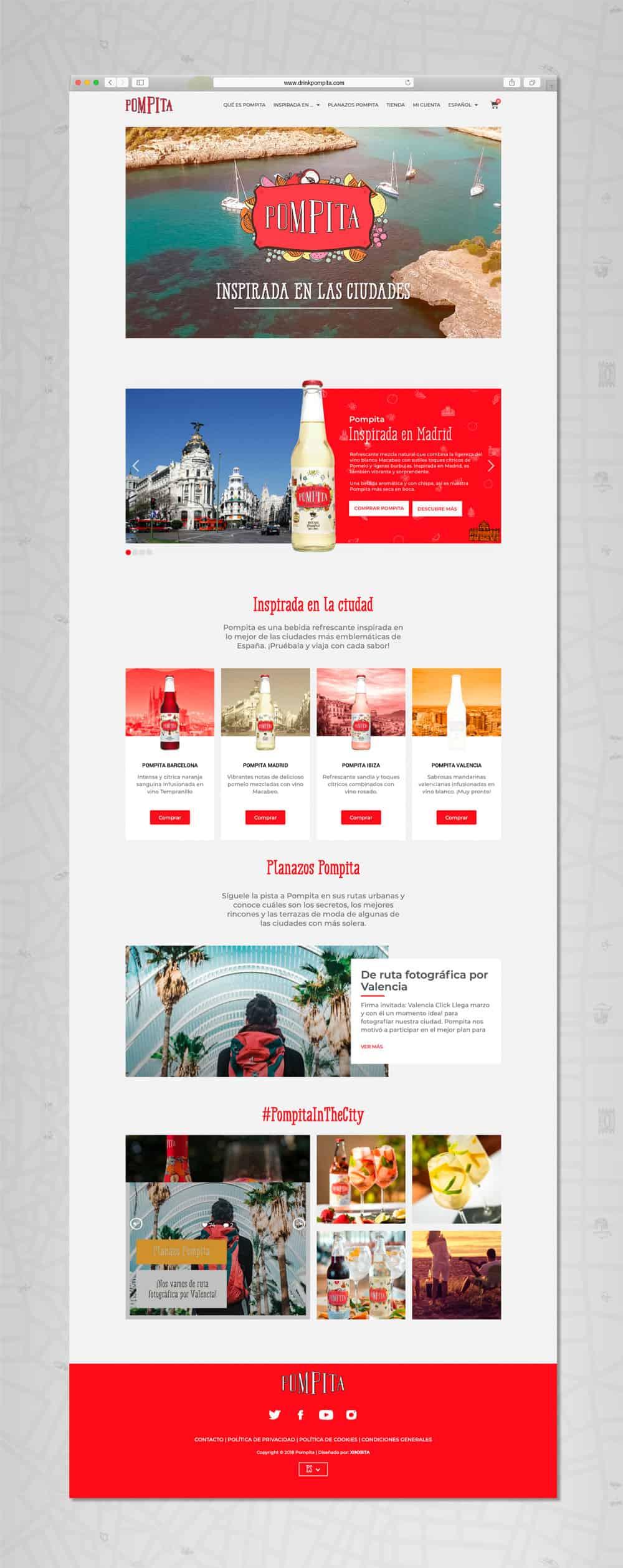 Pompita - Versión web Home