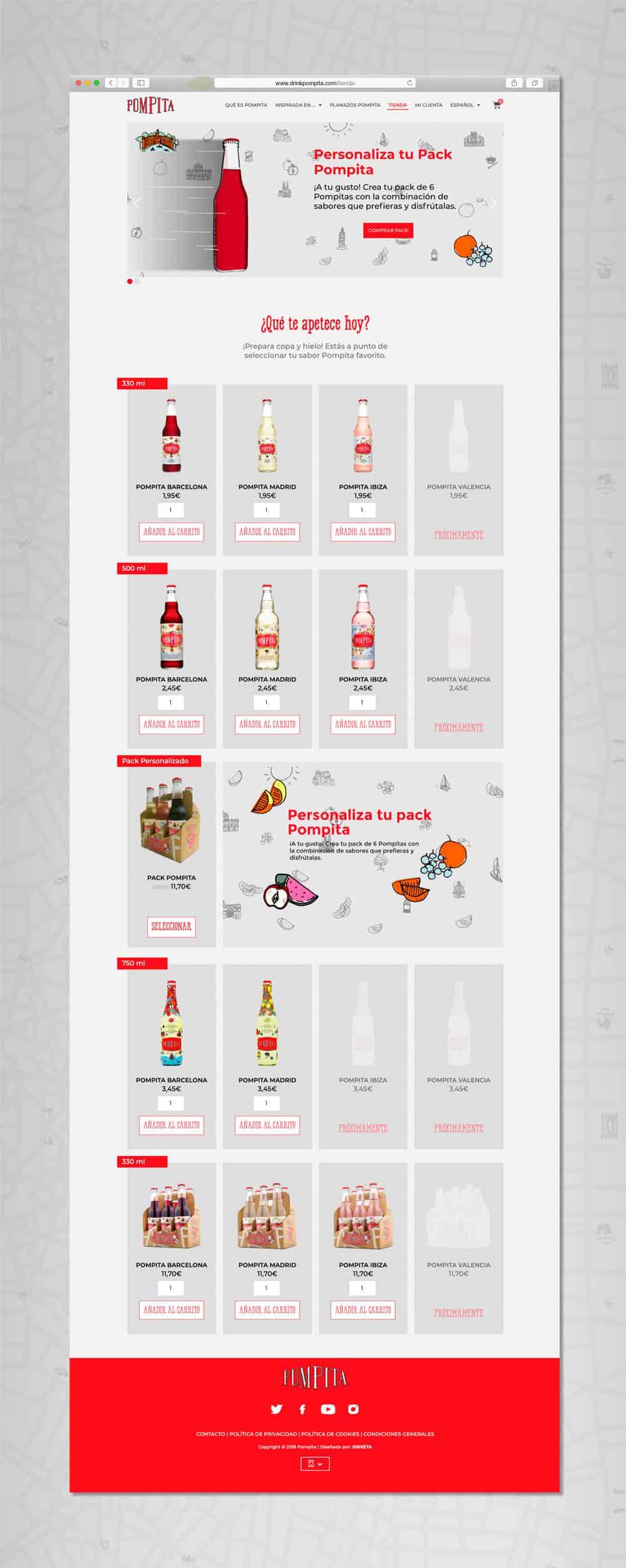 Pompita - Versión web Tienda Online