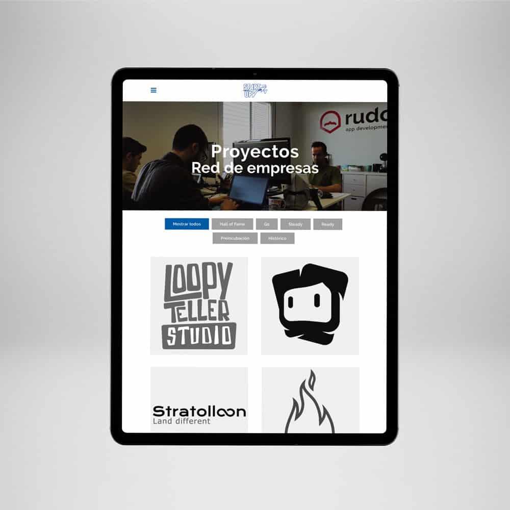 StartUPV - Responsive tablet