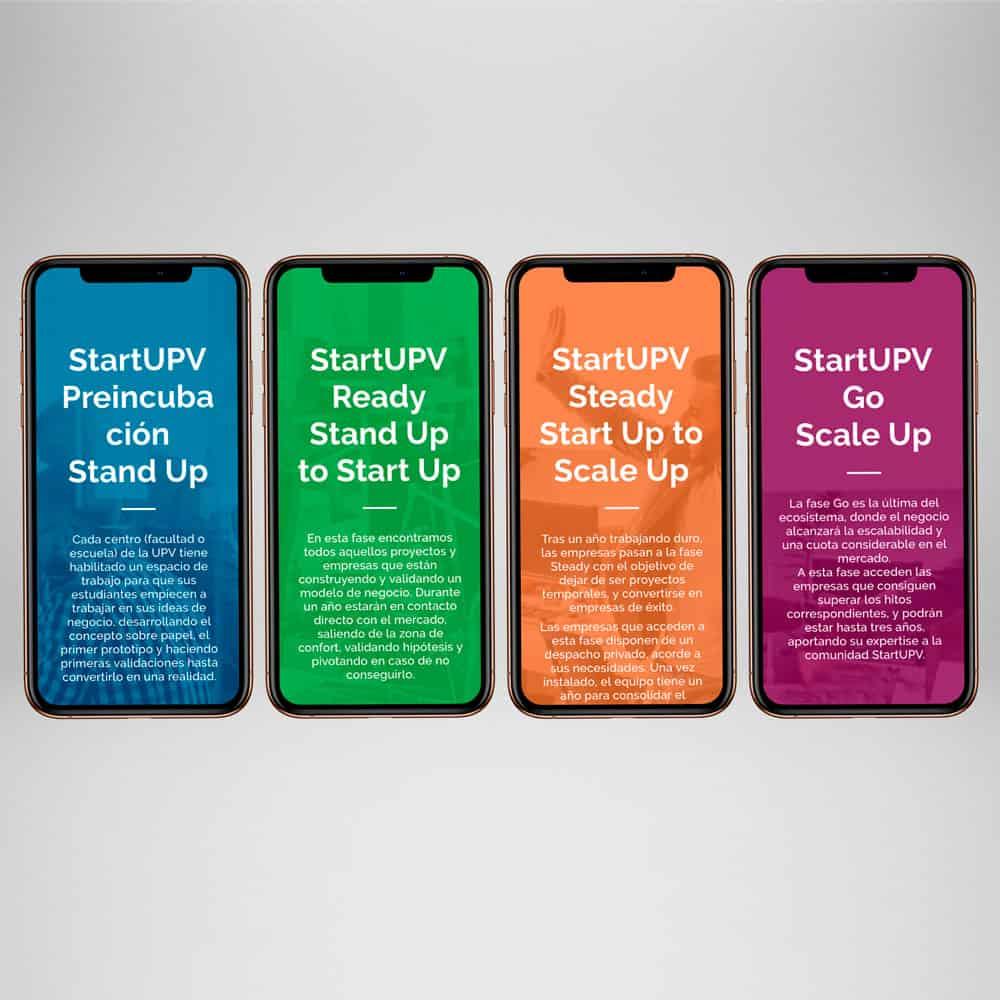 StartUPV - Responsive smartphone