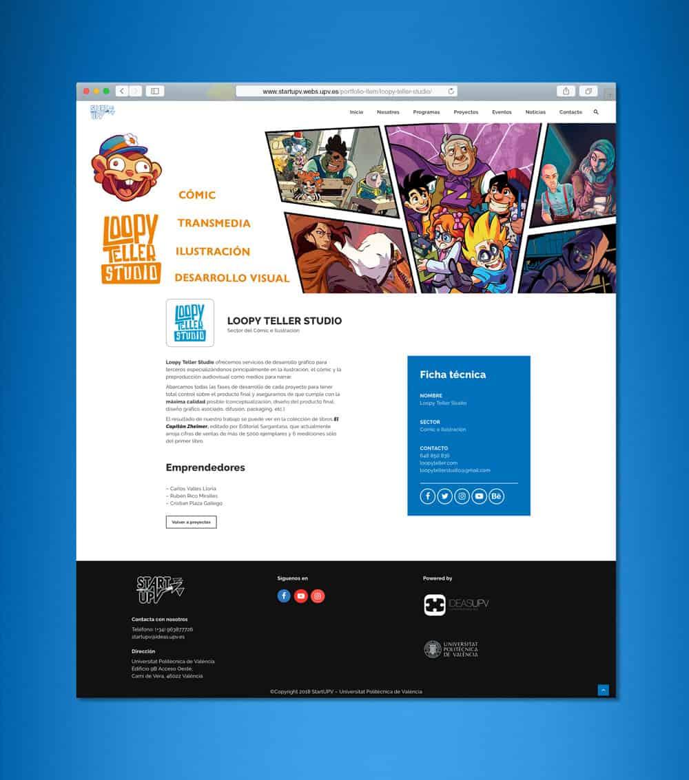StartUPV - Desarrollo Web