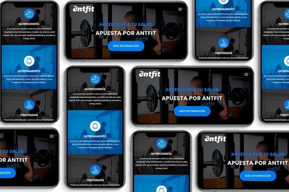 Antfit - Responsive smartphone