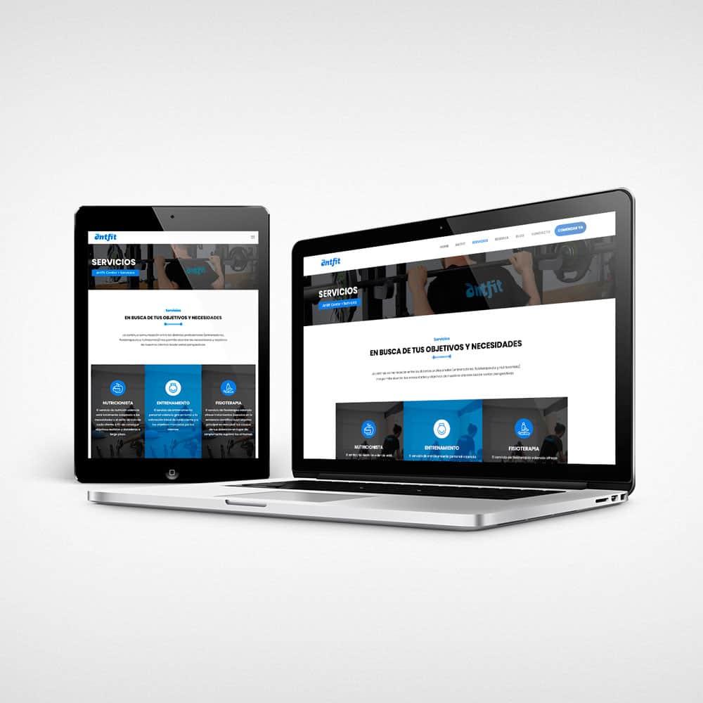 Antfit - Responsive tablet y laptop