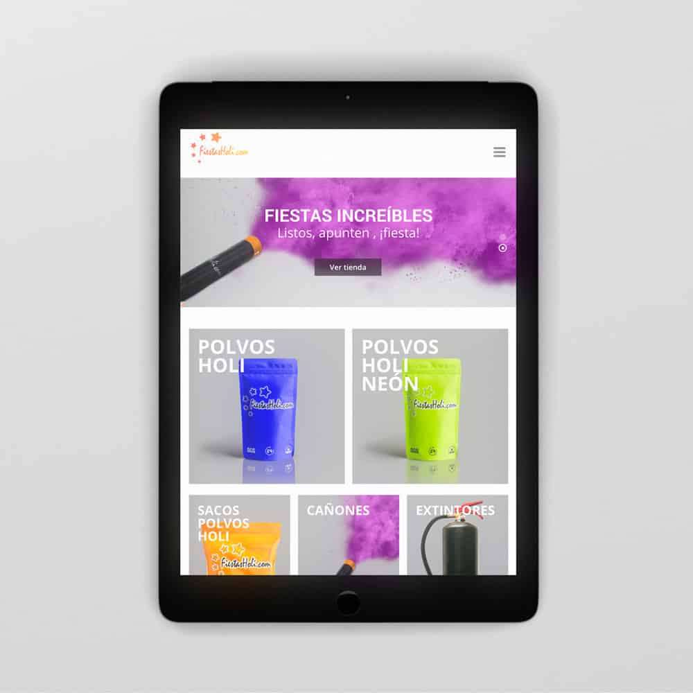 Fiestas Holi - Responsive tablet - Home