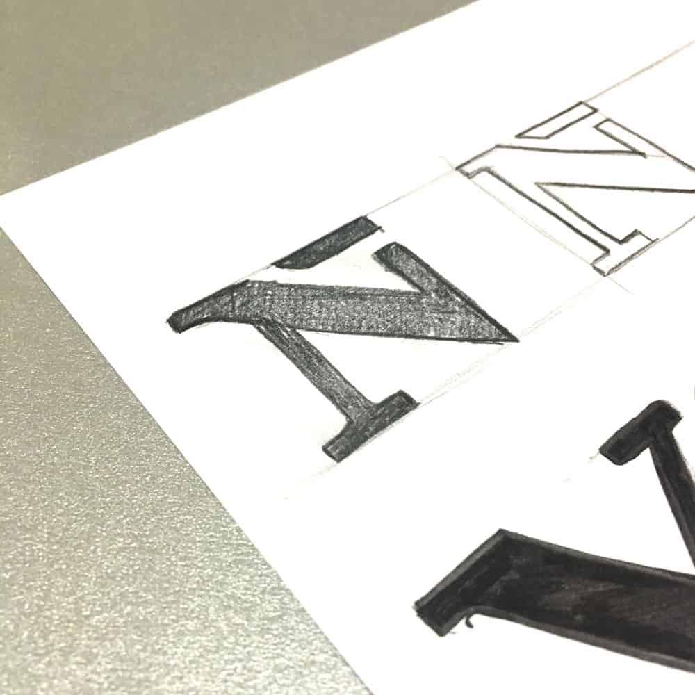 Vañek Obradores - Ilustración tipográfica